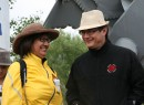 Brenda Sayers of the Hapucasath First Nation on Vancouver Island and Chief Bob Chamberlin, vice-president of the BC Union of Chiefs, support Alberta First Nations at the walk.