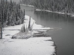 Athabasca River at Plante River Nov 3-2013