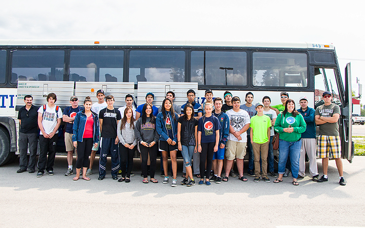 Team NWT players, coaches and supporters from Fort Smith head to Regina for the North American Indigenous Games.
