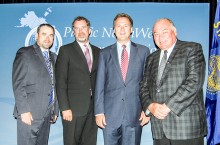From left: ITI Minister David Ramsay, outgoing PNWER president Senator Kevin Ranker, Montana Governor Steve Bullock and NWT Premier Bob McLeod.