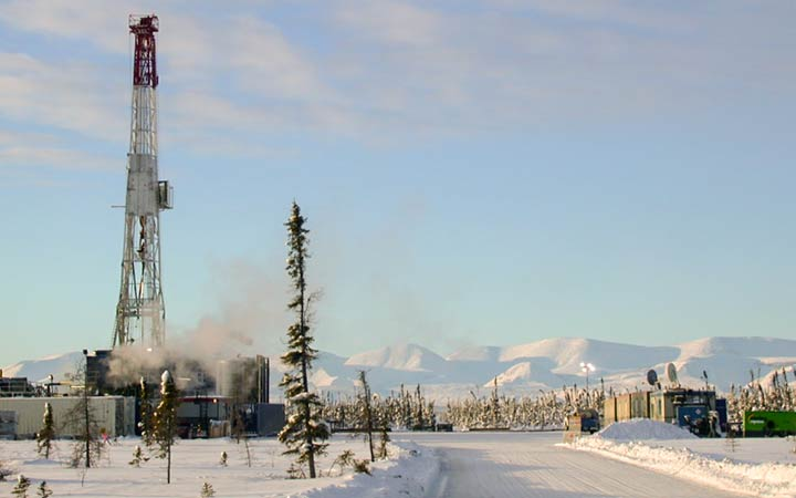 ConocoPhillips fracking in the Northwest Territories last winter