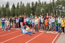 Youth from across the territory gather for the first Run, Jump, Throw camp, organized by the Fort Smith Track and Field Society.