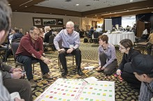 Strategists meet at the first energy charrette, held in 2012. Information gathered at the event informed the NWT Energy Plan released December 2013.