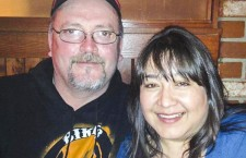 Kim Beaulieu, right, has this photo of herself her partner Tim Lea as her current profile picture on Facebook, where this image has been all over the Hay River Classifieds page as she carries out a series of fundraisers for local families in need.