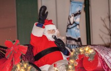 The City of Yellowknife provided Santa with a fleet of sparkly reindeer for his sleighride through the downtown.