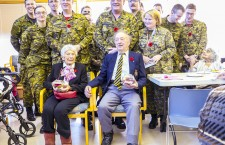 Veterans Ruth Spence and Dusty Miller were given a special tribute by members of the Canadian Forces last week in Yellowknife.