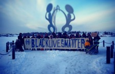 Concerned residents in Yellowknife emerged in -31C temperatures on Saturday to show their solidarity with the #BlackLivesMatter movement taking place in the U.S. over the past few weeks. The rally was spurred by several recent court decisions failing to indict white police officers in the deaths of unarmed black men in Ferguson, Missouri and New York. Organizers in Yellowknife said they wanted to highlight the shared experiences of racism faced by indigenous and black people across North America.