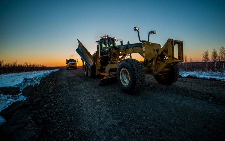 Work on the Inuvik to Tuktoyaktuk highway is expected to continue into April, making up for some of this year's delays.